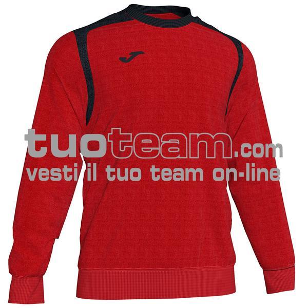 101266 - FELPA CHAMPION V girocollo 100% polyester fleece - 601 ROSSO/NERO