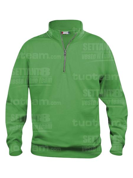 021033 - FELPA Basic Half Zip - 605 verde acido