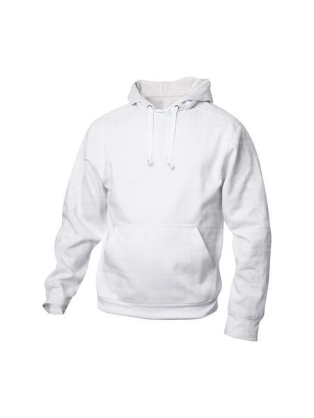 021031 - FELPA Basic Hoody - 00 bianco