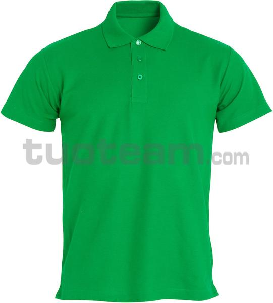 028230 - polo basic - 605 verde acido
