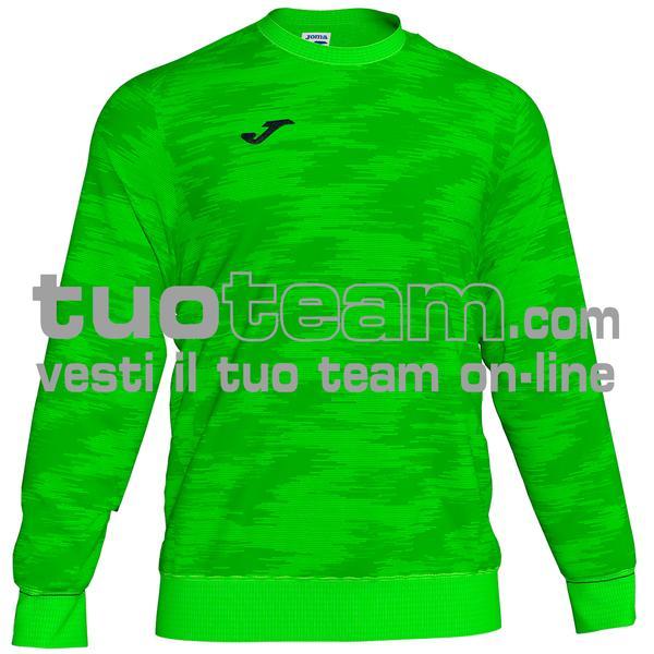 101329 - FELPA GIROCOLLO 100% polyester fleece - 020 VERDE FLUOR