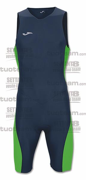 100538 - BODY TRIATHLON - BLU NAVY/VERDE FLUOR
