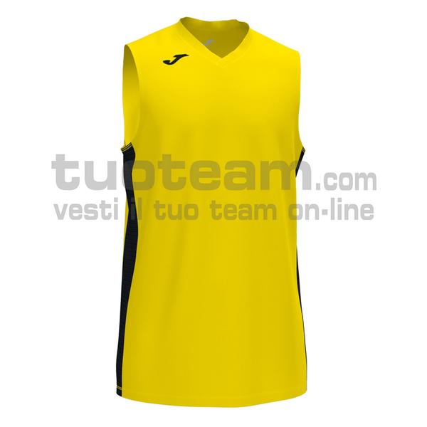 101573 - CANCHA III CANOTTA 100% polyester interlock - 901 GIALLO / NERO