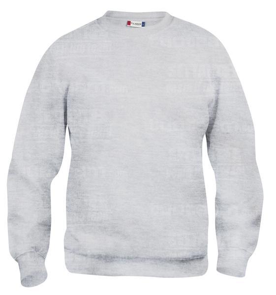 021030 - FELPA Basic Roundneck - 92 grigio cenere