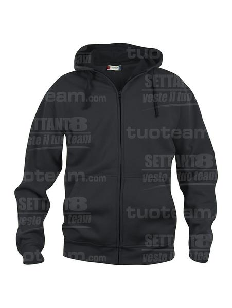 021034 - FELPA Basic Hoody Full zip Men's - 99 nero