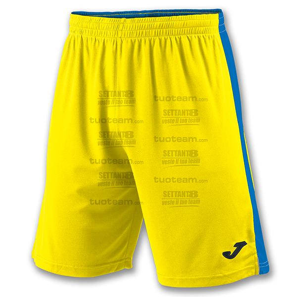 100684 - TOKIO II SHORT 100% polyester interlock - GIALLO/BLU ROYAL