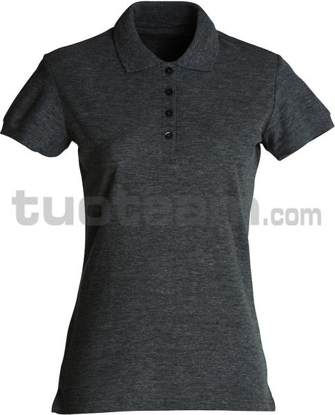 028231 - polo basic lady - 955 antracite melange