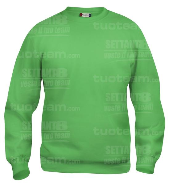 021020 - FELPA Basic Roundneck Junior - 605 verde acido