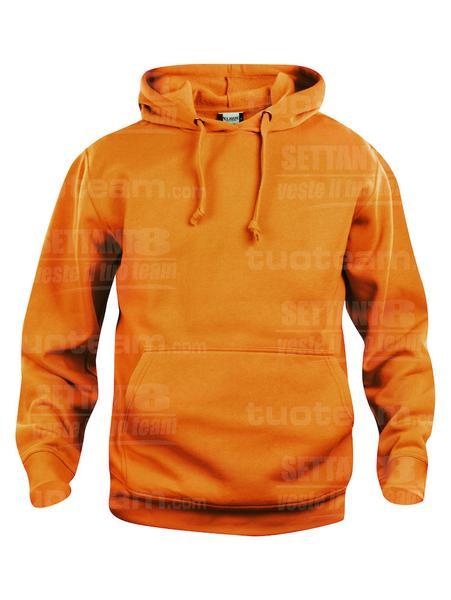021031 - FELPA Basic Hoody - 170 arancio HV