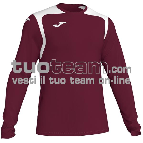 101375 - CHAMPIONSHIP V MAGLIA ML 100% polyester interlock - 672 BORDEAUX/NERO