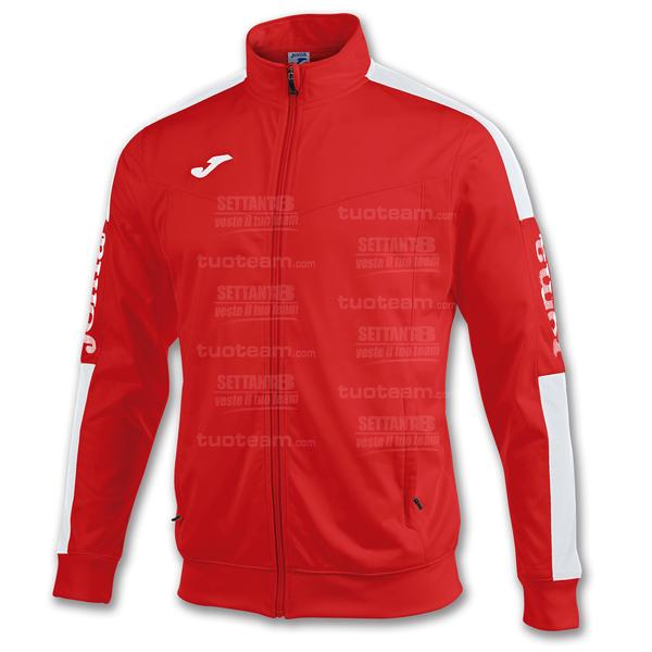 100687 - GIACCA CHAMPION IV ZIP LUNGA - ROSSO/BIANCO