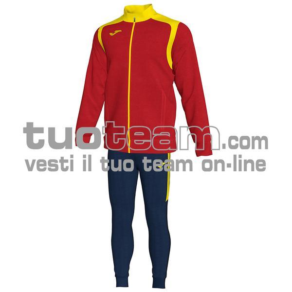 101267 - TUTA CHAMPION V 100% polyester interlock - 609 ROSSO / GIALLO