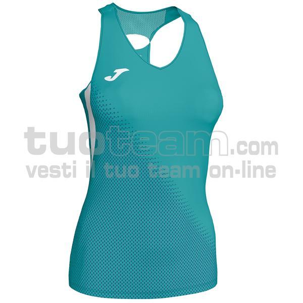900876 - CANOTTA 80% polyester interlock 20% elastan - 423 TURCHESE ELETTRICO