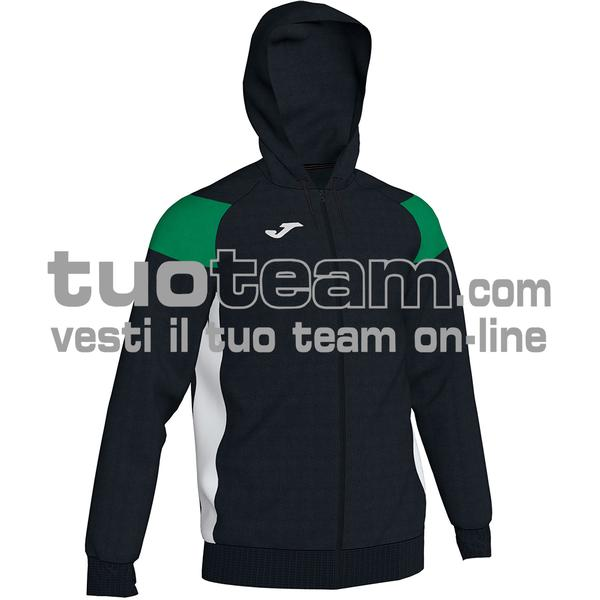 101271 - CREW III FELPA FULL ZIP 100% polyester fleece - 104 NERO/VERDE/BIANCO