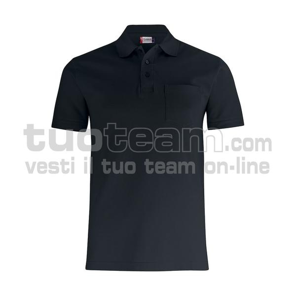 028255 - Basic Polo w. Pocket - 99 nero