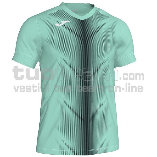 101370 - OLIMPIA MAGLIA MC 95% polyester 5% elastane - 401 VERDE FLUOR / NERO