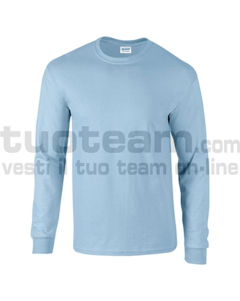 GL2400 - Ultra Cotton Maglia G/C-M/L 100% Cot. 205 gr/m2 - Light Blue