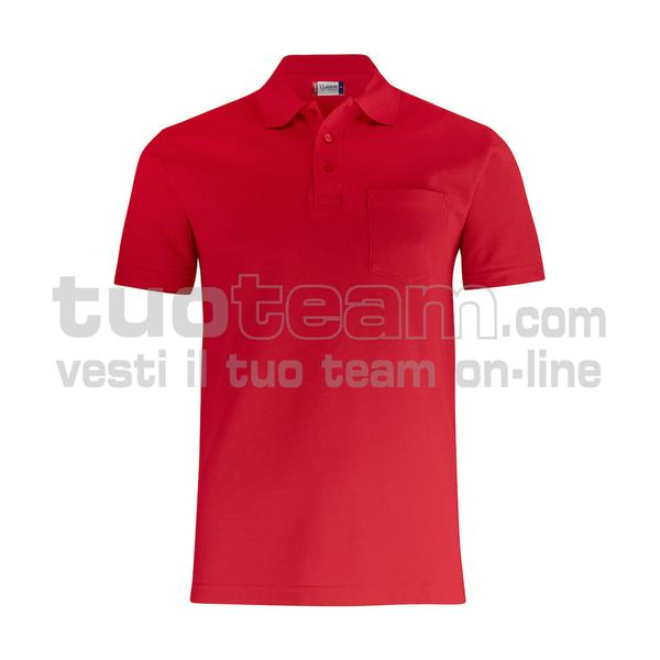 028255 - Basic Polo w. Pocket - 35 rosso
