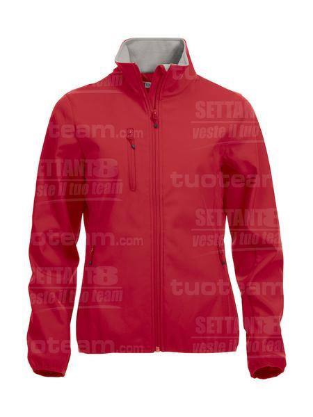 020915 - GIACCA Basic Softshell Jacket Ladies - 35 rosso