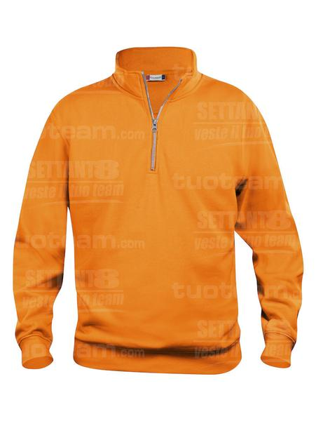 021033 - FELPA Basic Half Zip - 170 arancio HV