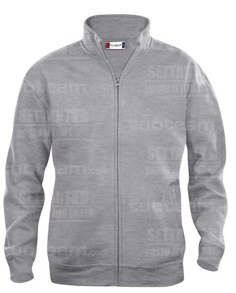 021038 - FELPA Basic Cardigan Men's - 95 grigio melange