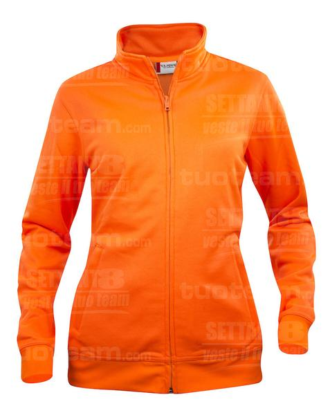 021039 - FELPA Basic Cardigan Lady - 170 arancio HV