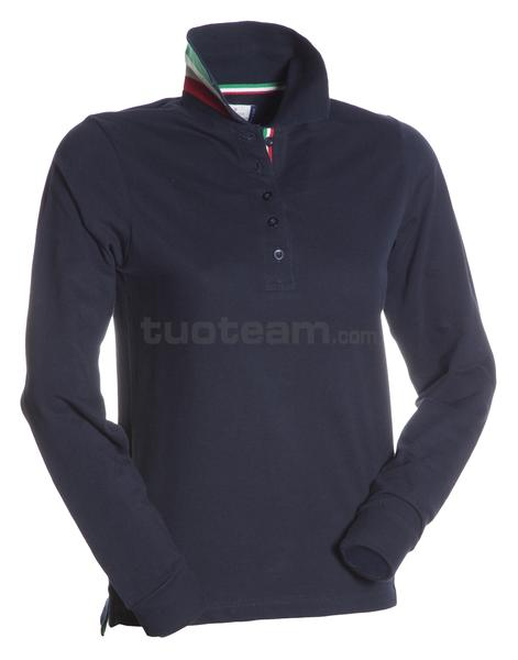 LONG-NATION LADY - POLO LONG-NATION LADY - BLU NAVY/ITALIA
