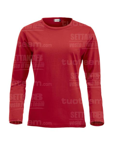 029330 - T-SHIRT Fashion-T Lady m/lunga - 35 rosso