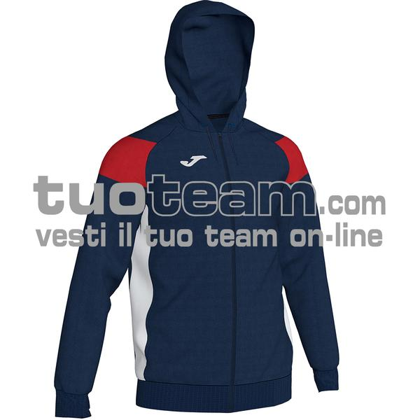 101271 - CREW III FELPA FULL ZIP 100% polyester fleece - 336 DARK NAVY / ROSSO