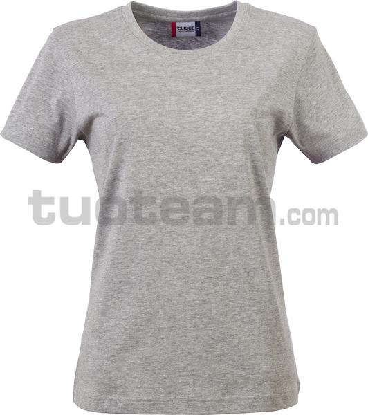 029031 - Basic-T T-SHIRT Lady - 95 grigio melange