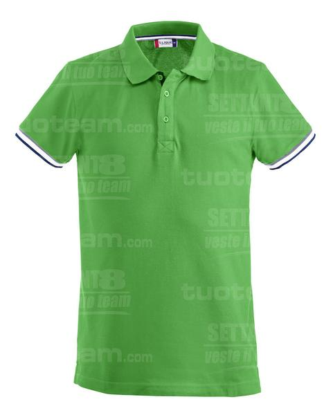028237 - POLO Newton - 605 verde acido