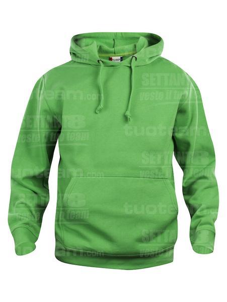 021031 - FELPA Basic Hoody - 605 verde acido