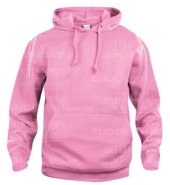 021031 - FELPA Basic Hoody - 250 rosa brillante