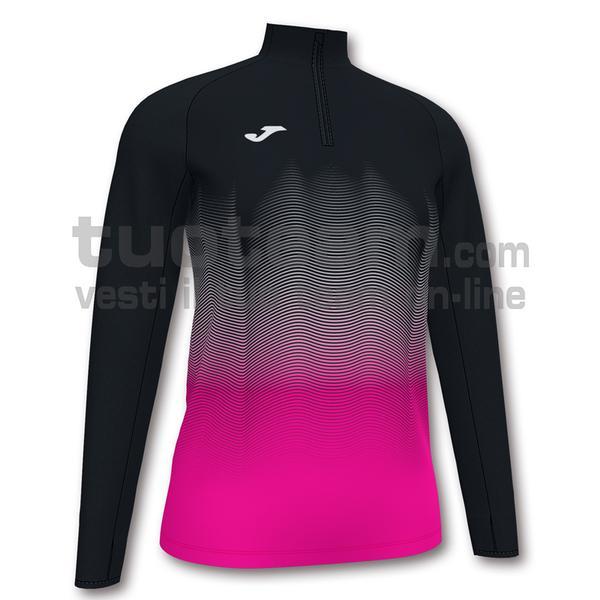 901031 - ELITE VII WOMAN FELPA 90% polyester 10% fleece elastane - NERO-ROSA FLUO