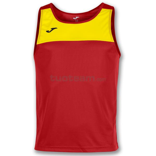 101033 - RACE CANOTTA 100% polyester - 609 ROSSO / GIALLO