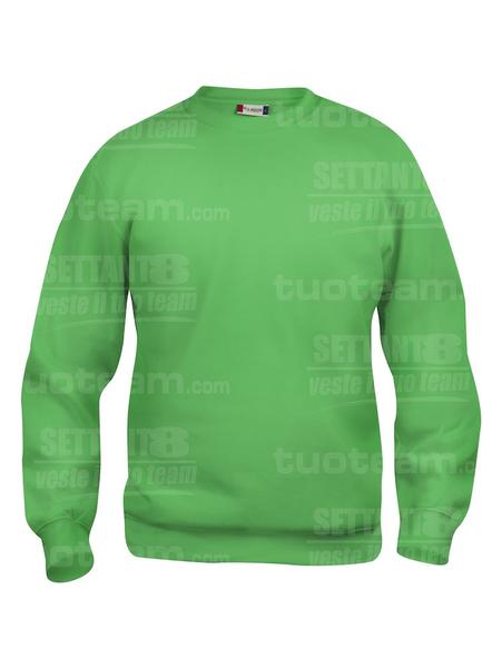 021030 - FELPA Basic Roundneck - 605 verde acido