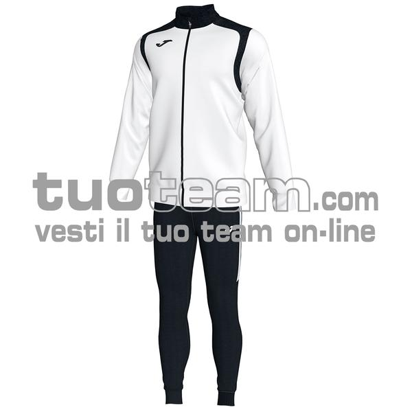 101267 - TUTA CHAMPION V 100% polyester interlock - 201 BIANCO / NERO