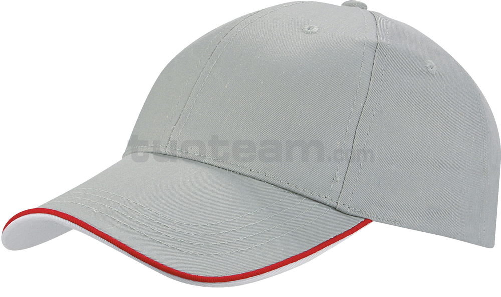 K18062 - CAPPELLINO 6 PANNELLI PIPING / 6 PANELS PIPING CAP - GRIGIO