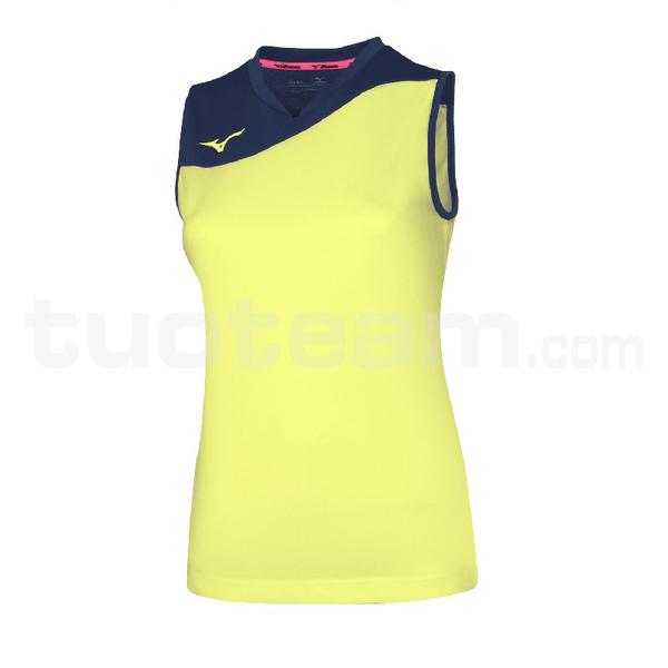 V2EA7205 - authentic myou ns shirt - Yellow Fluo/Royal