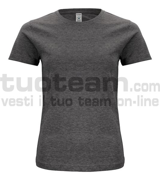 029365 - Organic Cotton T-shirt Lady - 955 antracite melange
