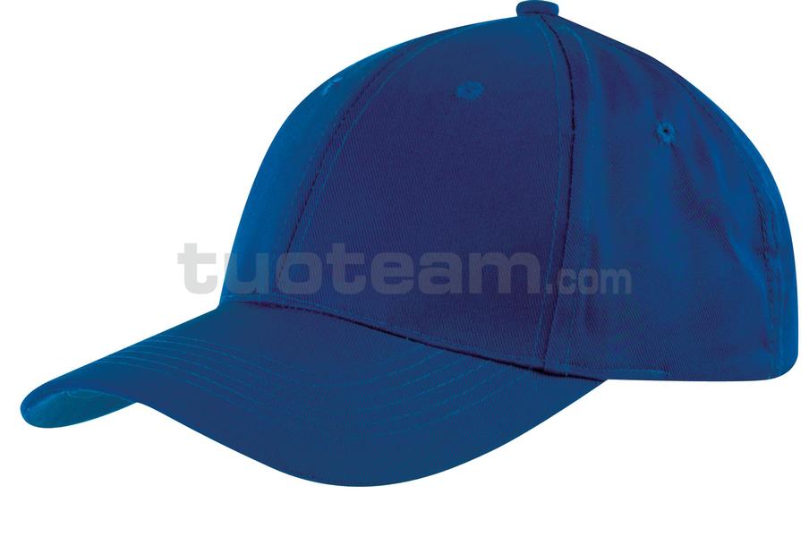 K18061 - CAPPELLINO 6 PANNELLI / 6 PANELS CAP - BLU ROYAL