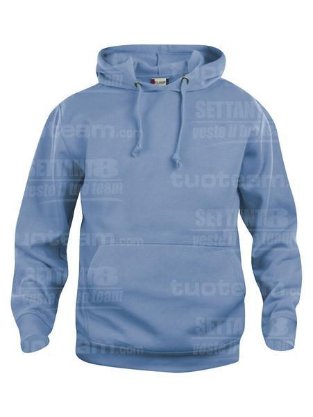 021031 - FELPA Basic Hoody - 57 azzurro