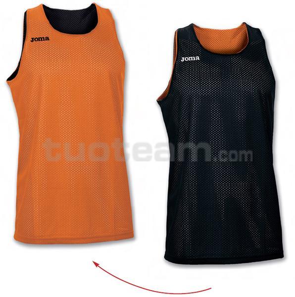100050 - ARO MAGLIA DOUBLE 100% polyester mesh - 800 ARANCIO/NERO