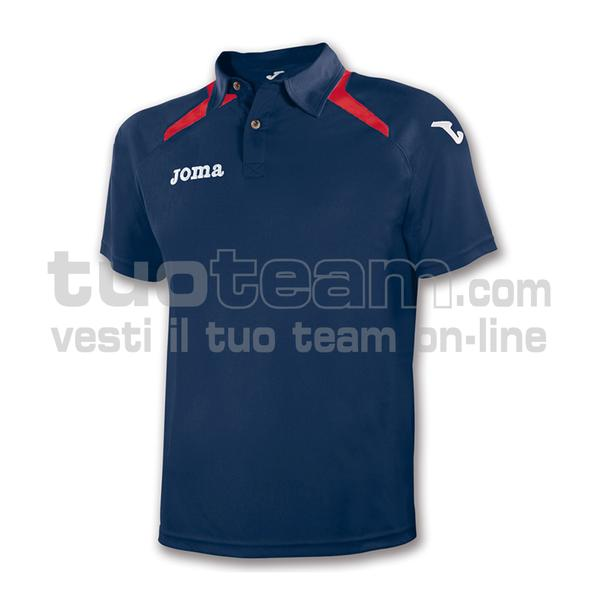 1007S12 - POLO MC CHAMPION ll - 32 BLU NAVY/ROSSO