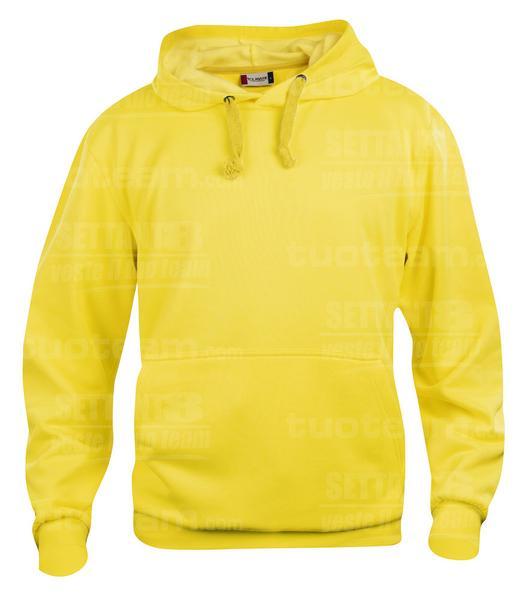 021031 - FELPA Basic Hoody - 10 giallo limone