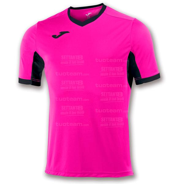 100683 - CHAMPION IV MAGLIA MC 100% polyester interlock - 031 ROSA FLUOR/NERO