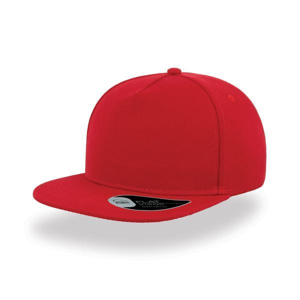 ATSNFI - Cappellino SNAP FIVE a 5 pannelli con visiera piatta