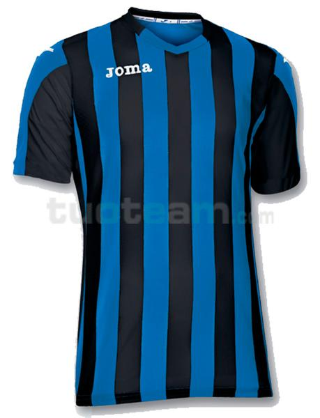 100001 - COPA MAGLIA MC 100% polyester tinto filo - 701 BLU/NERO