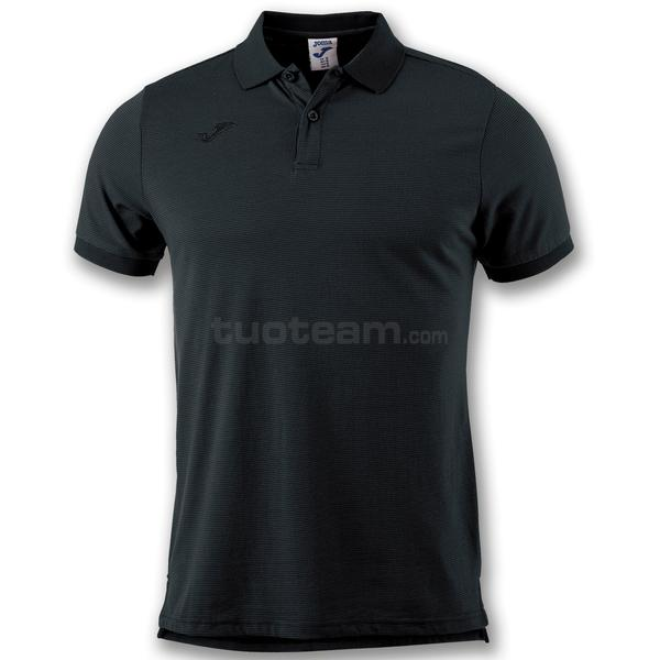 101062 - ESSENTIAL POLO 100% polyester interlock - 100 NERO
