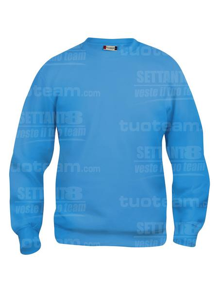 021030 - FELPA Basic Roundneck - 54 turchese